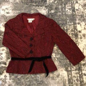 Maggy London Tailored Fit Metallic Damask Jacket 8